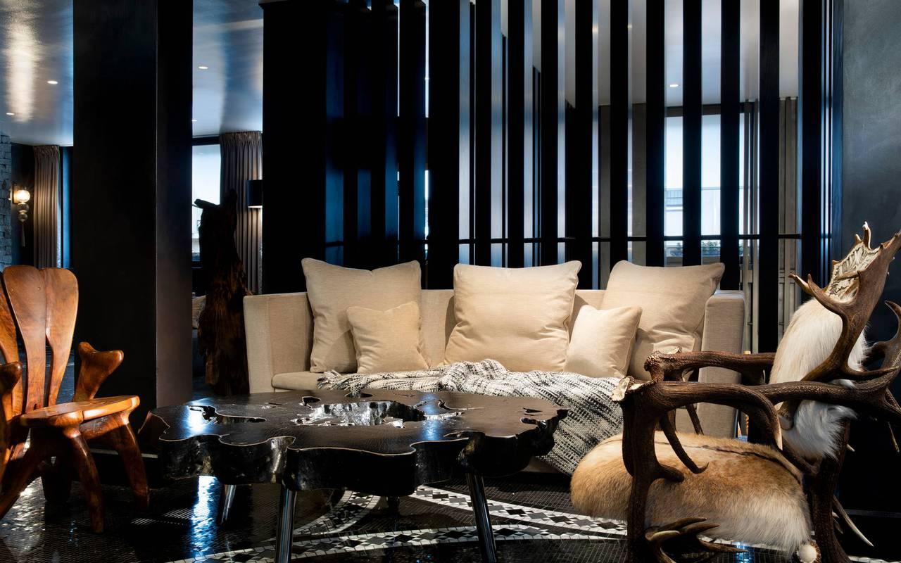Comfort corner with sofa, 5 star hotel in paris near eiffel tower, Juliana Hotel Paris.