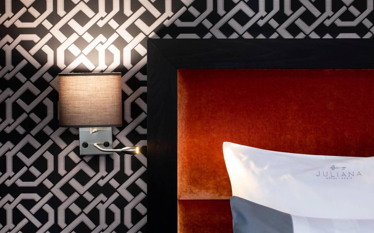 Chambre design et confort, hotel chic paris, Juliana Hotel Paris.